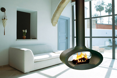 It is been said that these suspended fireplaces will be renowned