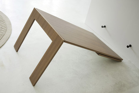 Dining Table: Dining Table Folds Into Wall