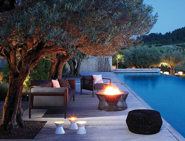 Outdoor Spaces Ideas Magnificent Of Outdoor Patio Pool Fire Pit Design Ideas Images