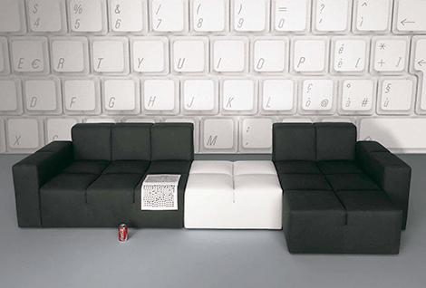 Italian furniture , modern , modular couch , sofa
