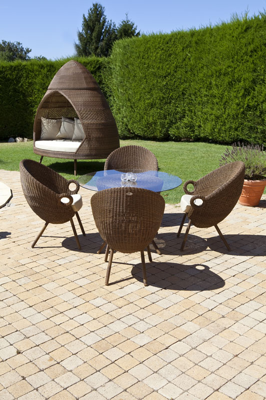 chair with cushion 2 oVo Patio Huts Daybed Sunlounger Chairs by Alexander Rose
