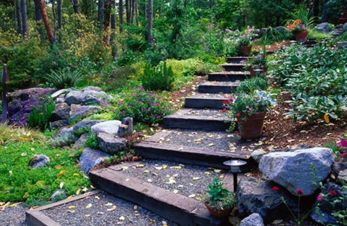 7-garden-gravel-steps | Home Interior Design, Kitchen and Bathroom ...