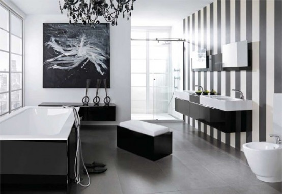 Black White Bathroom 1 Black and White Bathroom Design from Noken