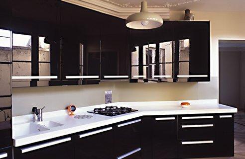 Contemporary Black Kitchen Design Ideas | Home Interior Design ...