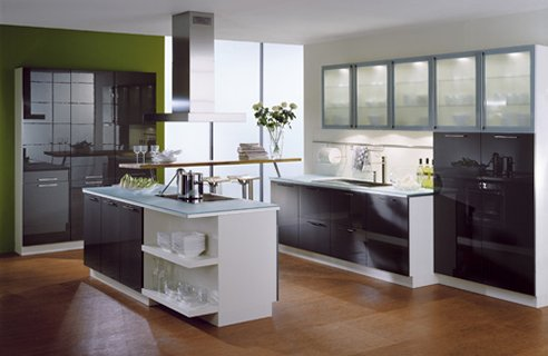Here are some inspirational black and white kitchens from French kitchen maker Mobalpa