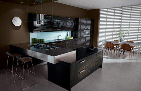 11 second nature avant ebon Black Kitchen Design Ideas