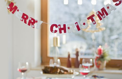 12 banner Christmas Table Decors
