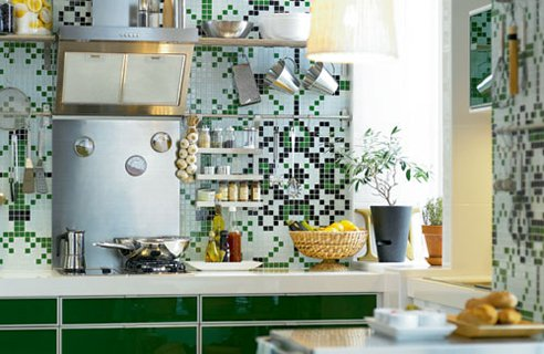 Bold prints are in for wallpaper, so why shouldn't kitchen walls be given