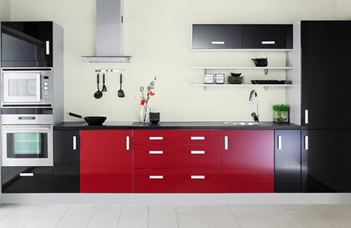 Pictures Of Red And Black Kitchens