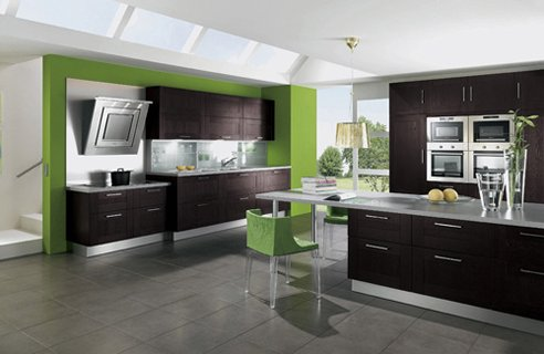 2 alno square oak Contemporary Colourful Kitchen Design Ideas