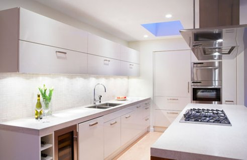 2 small kitchen skylight Small Kitchen Design & Planning