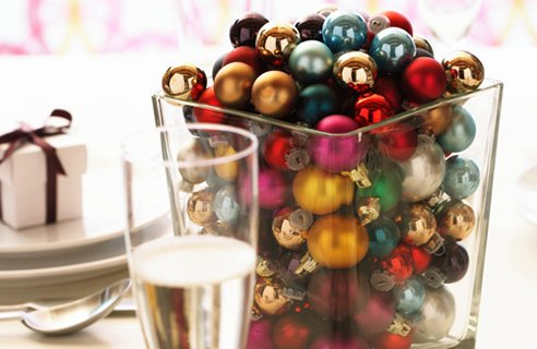6 mini baubles Christmas Table Decors