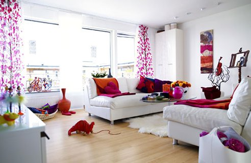 Colourful Design Ideas for Living Room | Home Interior Design, Kitchen
