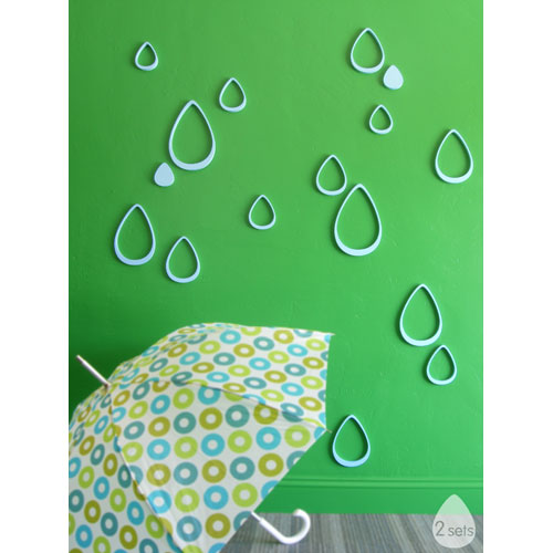 2-teardrops-paintable-wall-decor-by-wallter | Home Interior Design ...