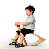 Red Ball Rocker for kids by Knu