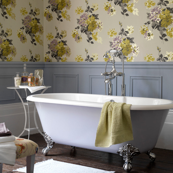 Exclusive designs blog for Bathroom wallpaper patterns