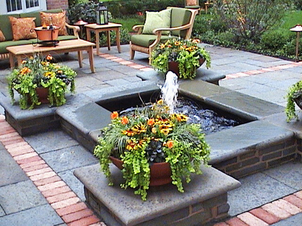 Fountains For Backyard Ponds : Huge landscape Arizona backyard landscaping pictures modern bathrooms