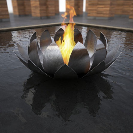 lotus bowl fireplace by elena colombo Lotus Bowl fireplace by Elena Colombo