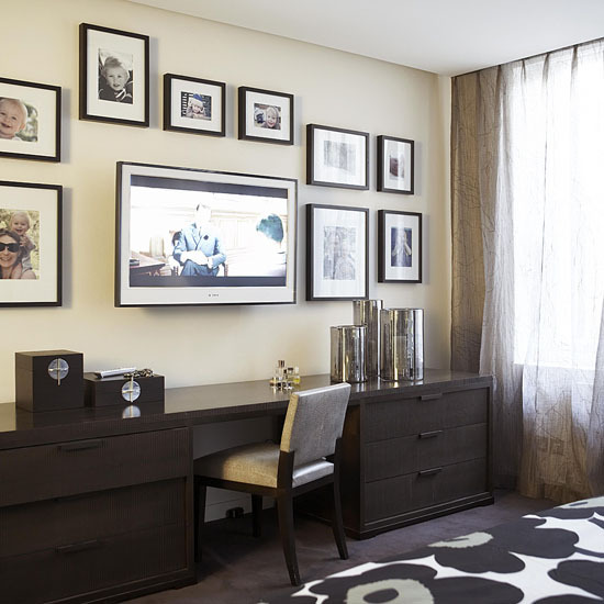 1 10 ways to disguise your tv Picture frames 10 Ways to disguise your TV