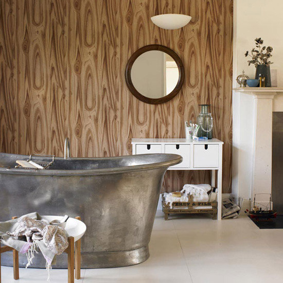 1 bathrooms 2011 new ideas wood effect wallpaper Bathrooms 2011   New ideas