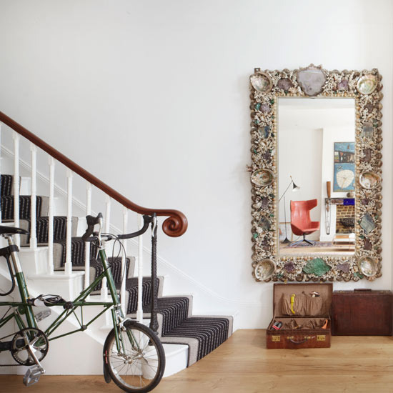 Mirror Decorating Ideas Amusing Of hallway with elegant wall mirror hanging a mirror in the hall makes a  Photo