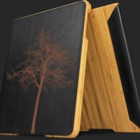 Wood and Leather case for new Apple iPad 2 by Grove