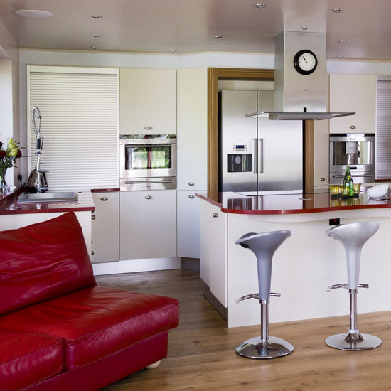 red and white kitchen decor images