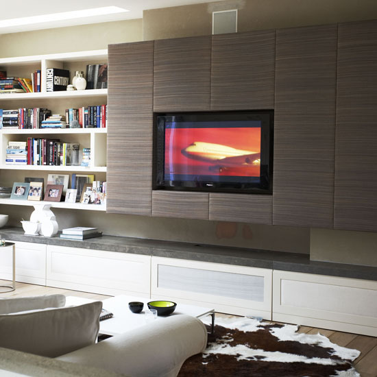 2 10 ways to disguise your tv set into panels 10 Ways to disguise your TV