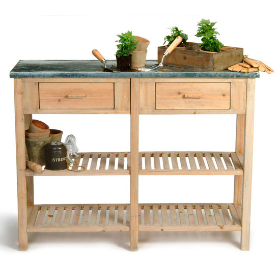 2-garden-storage-ideas-Large-potting-bench-from-Garden-Trading ...