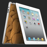 Wood skin for new Apple iPad 2 by Grove