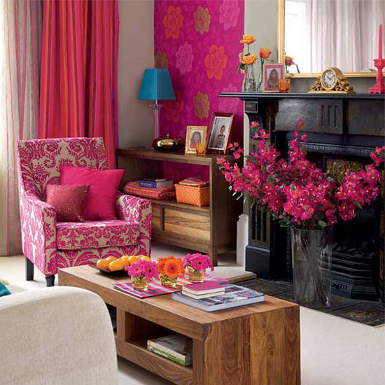 3 10 inspiring ideas colourful living rooms Cosy pink 10 inspiring ideas: Colourful living rooms