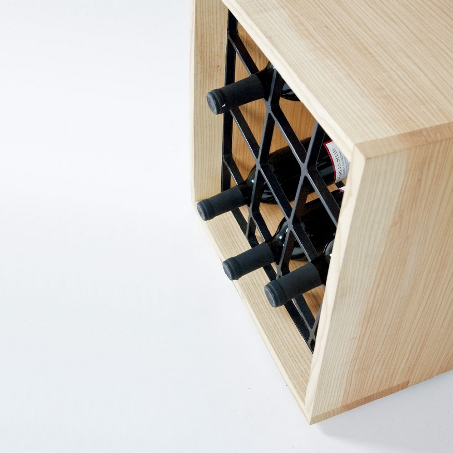 salvaged wood wine rack