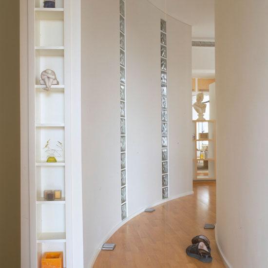 decorating ideas white wall hallway decorating glass block
