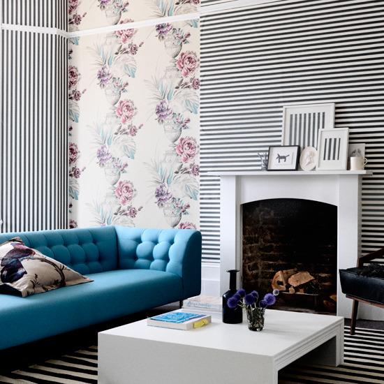 6 strange and wonderful living rooms stripes Strange and wonderful living rooms