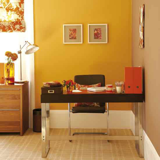 6 top modern home offices orange Top modern home offices