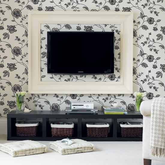 7 10 ways to disguise your tv wallpaper frame 10 Ways to disguise your TV