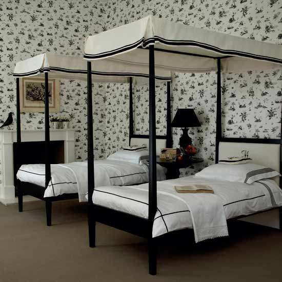 9-black-and-white-bedroom-ideas-twin-bedroom | Home Interior ...