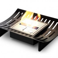 Contemporary Curved Fireplace Grate by EcoSmart Fire