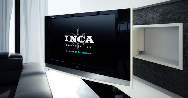 Wall mounted pullout and swivel system by inca home interior design