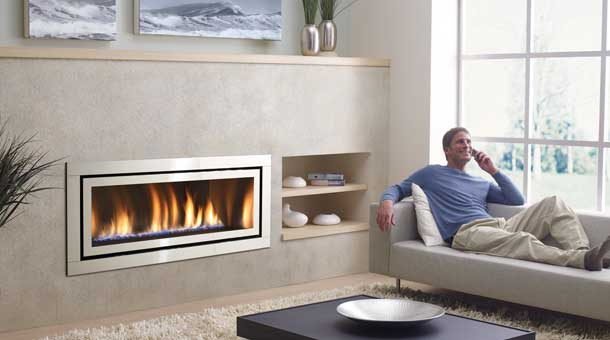 corner brick fireplace tv