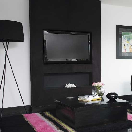 2 modern black living rooms Modern black Living rooms
