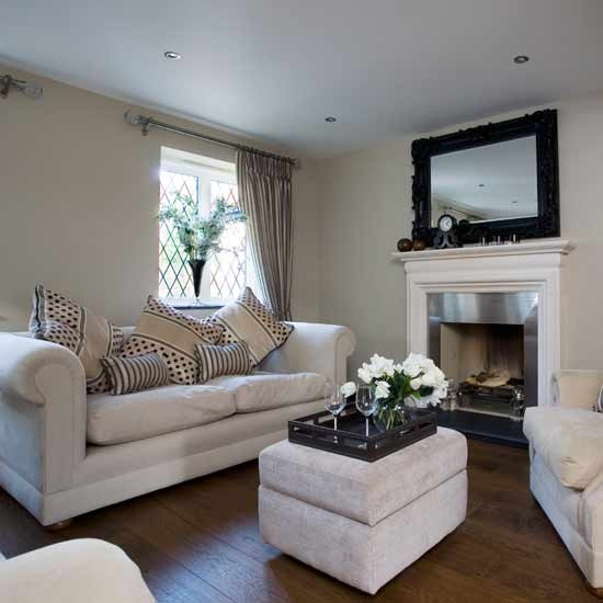 White traditional living room ideas white suede sofas