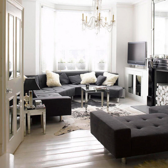 6 modern black living rooms Elegant monochrome living room Modern black Living rooms