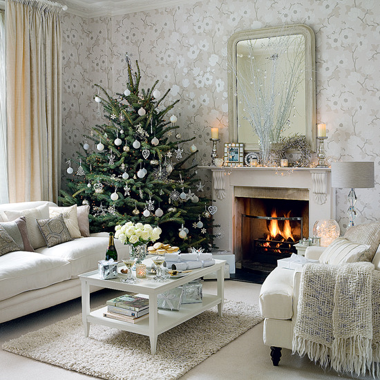 Vintage Living Room Frosty Living Room White