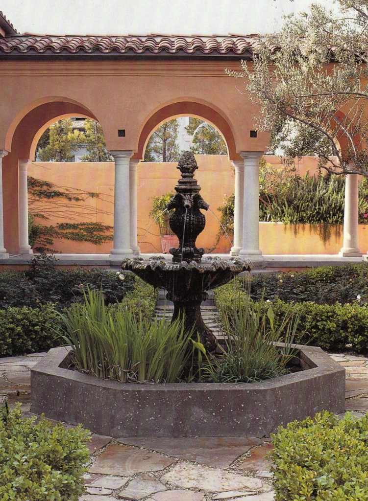 For landscaping: Tuscan style backyard landscaping ... on Backyard Courtyard Design Ideas id=88398