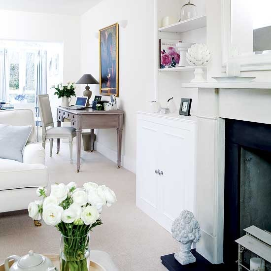 White Traditional Living-room Ideas 2011