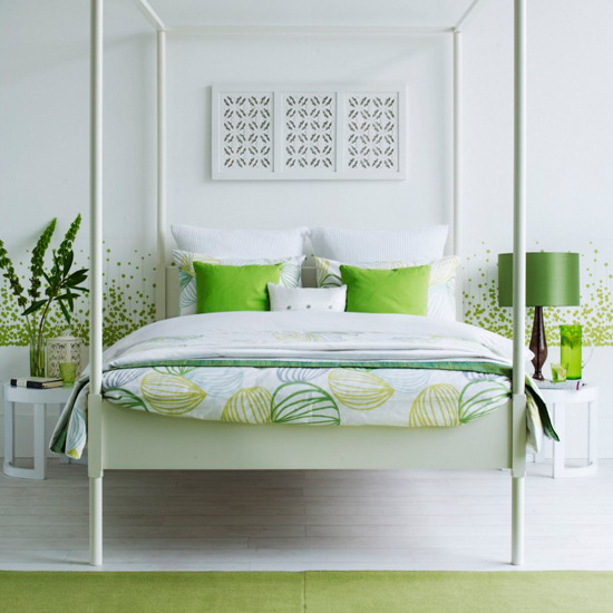 Green And White Bedrooms Green Black And White Bedroom