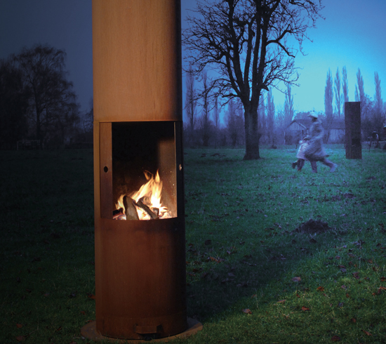 Zeno Outdoor Fireplaces Are Made Of Corten Steel And Ideal For Revamping And Bringing A Special
