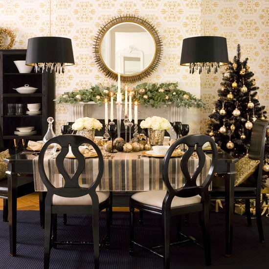 Black And Gold Dining Rooms