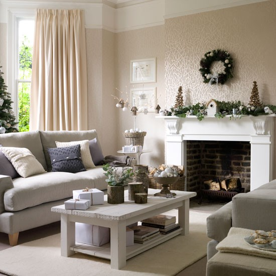 Best Christmas Living Room Decorating Ideas Winter Wonderland Living
